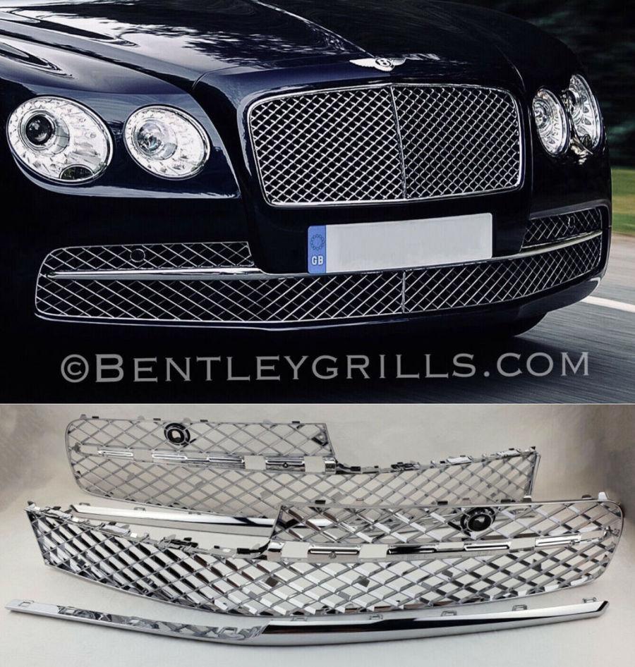 Bentley Continental GTC W12 2018 côté gauche Grill Aile Fender Trim Vent 3SD821273